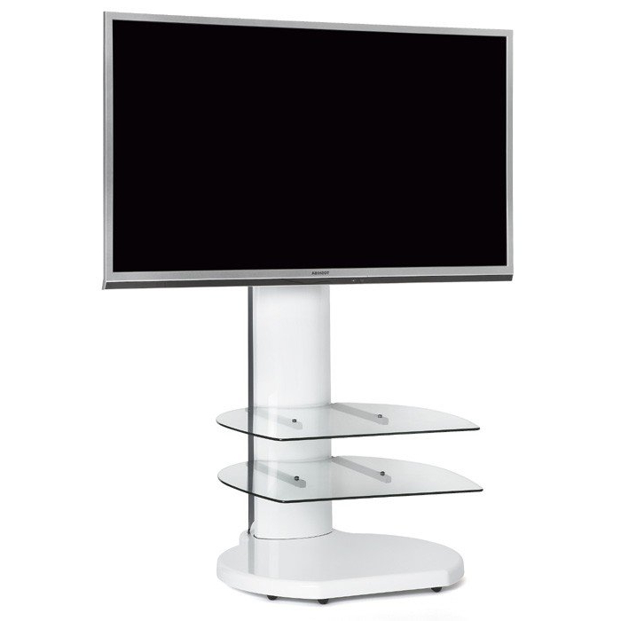 Well Known Off The Wall Origin S4 White Cantilever Tv Stand For Tv's Up To 55 Inch Within White Cantilever Tv Stands (View 15 of 20)