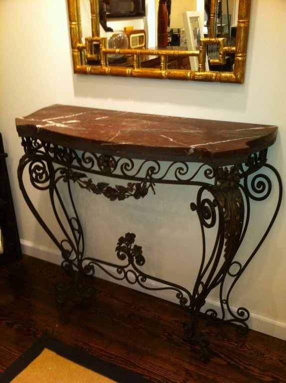 Well Known Oscar 60 Inch Console Tables Regarding 1930s Wrought Iron Console Table (View 6 of 20)