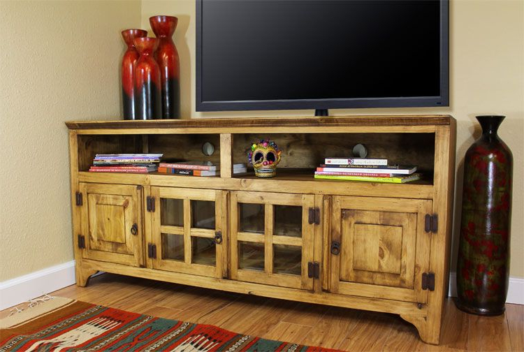 "Well Known Our Best Seller! Rustic Pine 60"" Tv Console (View 2 of 20)"