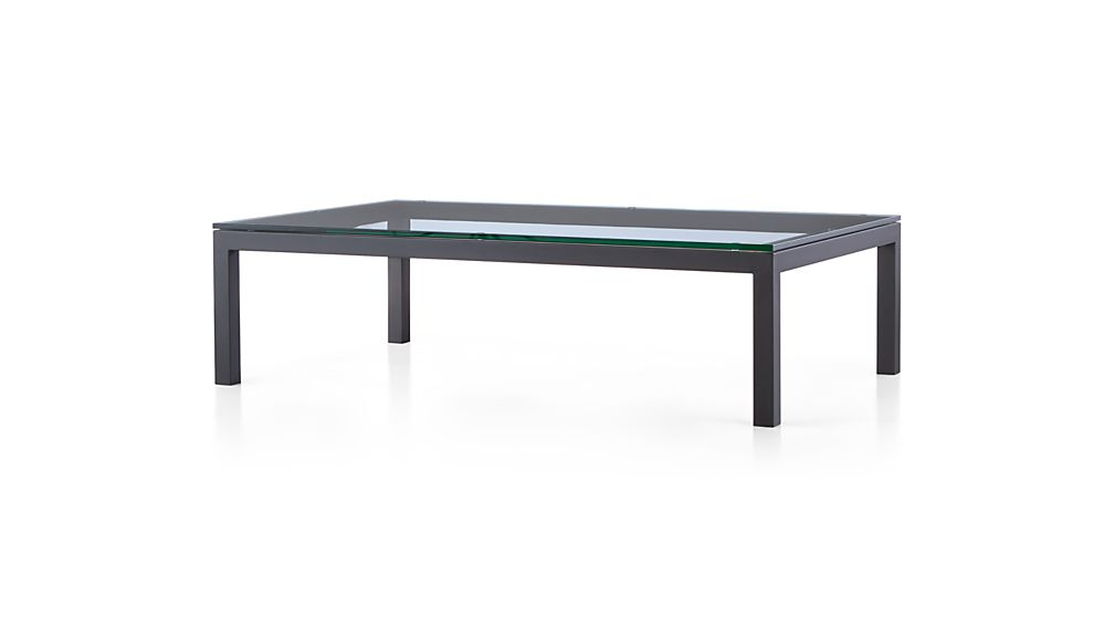 Well Known Parsons Clear Glass Top/ Dark Steel Base 60x36 Large Rectangular Intended For Parsons Clear Glass Top & Elm Base 48x16 Console Tables (Gallery 5 of 20)