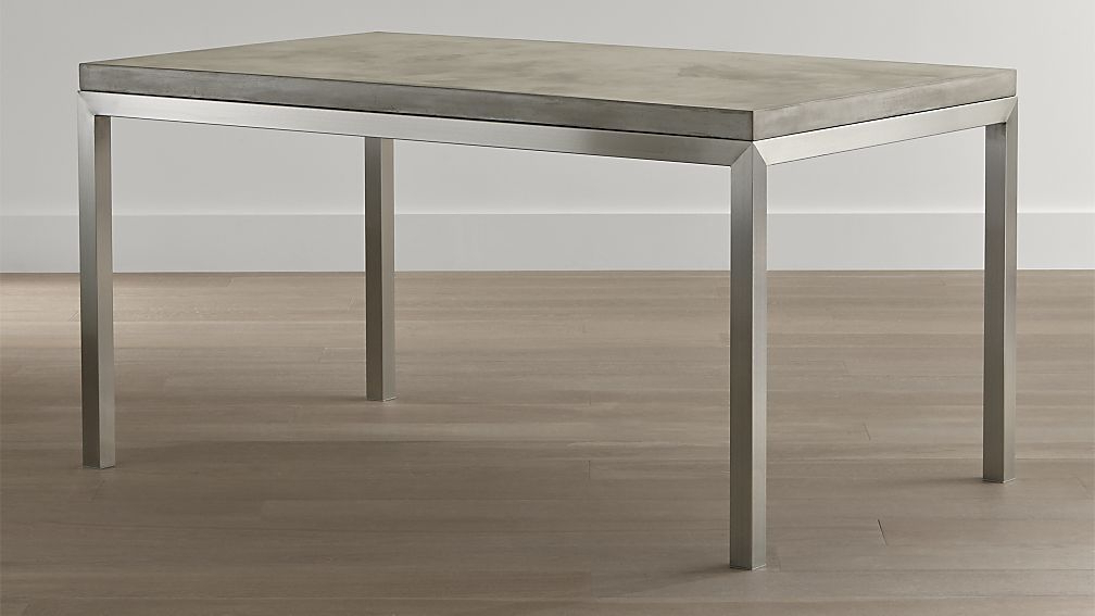 Well Known Parsons Concrete Top & Elm Base 48X16 Console Tables Pertaining To 9 Crate And Barrel Concrete Coffee Table Gallery (Gallery 17 of 20)