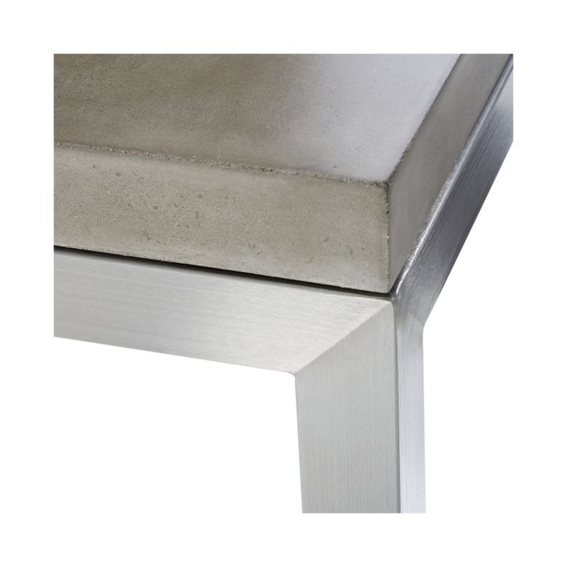 Well Known Parsons Concrete Top & Stainless Steel Base 48X16 Console Tables With Regard To Parsons Concrete Top/ Stainless Steel Base 48X16 Console (View 19 of 20)