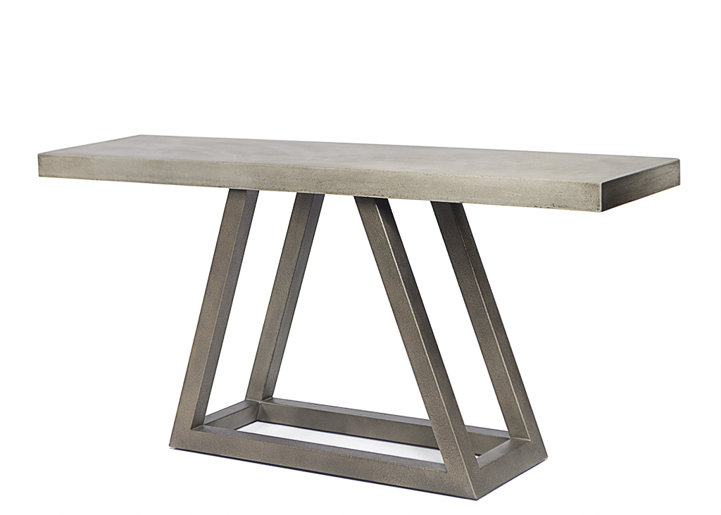 Well Known Parsons Grey Marble Top & Dark Steel Base 48X16 Console Tables Regarding Concrete Top Console Table Stunning Parsons Dark Steel Base 48X16 (Gallery 17 of 20)