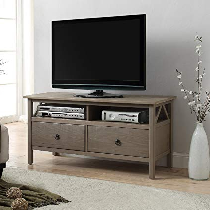 Well Known Pine Wood Tv Stands Throughout Amazon: Maloof Rustic Gray Pine Wood Tv Stand: Kitchen & Dining (View 20 of 20)