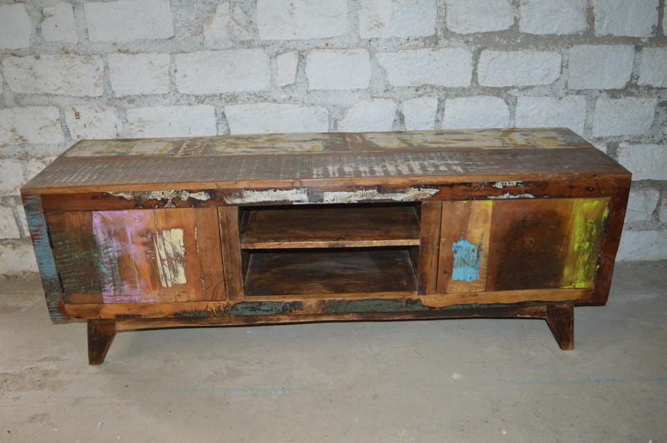 Well Known Reclaimed Wood Tv Stand – Nadeau Atlanta Regarding Wood Tv Stands (View 8 of 20)