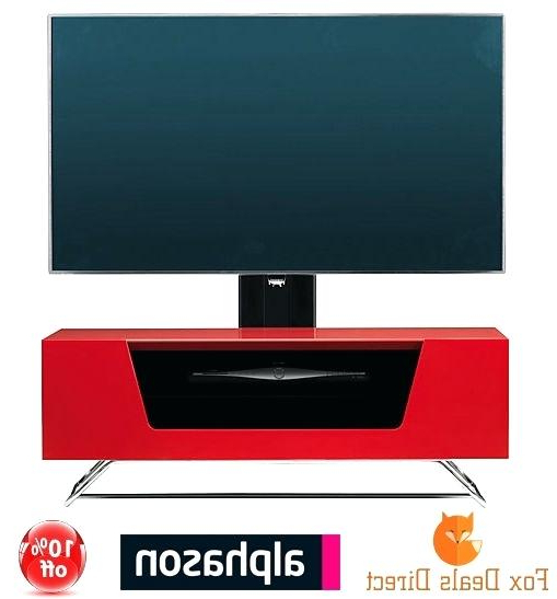 Well Known Red Gloss Tv Stands High Gloss Wood Oval Shape Stand Red High Gloss Inside Bracketed Tv Stands (View 20 of 20)