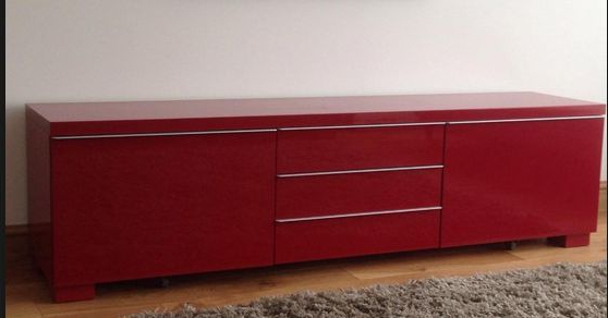 Well Known Red Tv Units With Ikea Red Besta Burs Tv Cabinet And Wall Unit (View 19 of 20)