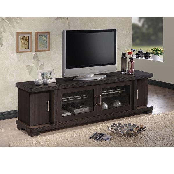 Well Known Shop Porch & Den Kittery Contemporary 70 Inch Dark Brown Wood Tv Regarding Dark Wood Tv Cabinets (View 20 of 20)