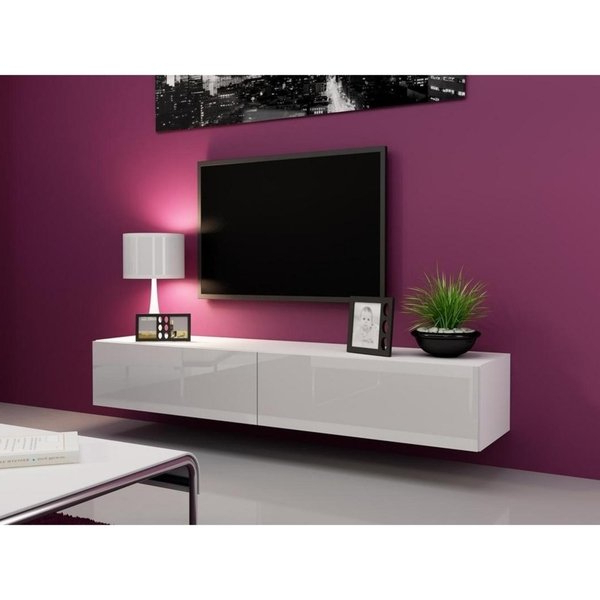 Well Known Shop Vigo High Gloss Tv Stand White/white – On Sale – Free Shipping Throughout High Gloss Tv Cabinets (View 19 of 20)