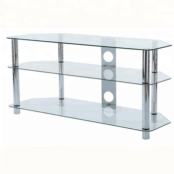 Well Known Silver Tv Stands In Clear Glass And Silver Legs Tv Stands With 32 Inch Led Tv Lcd And (View 19 of 20)