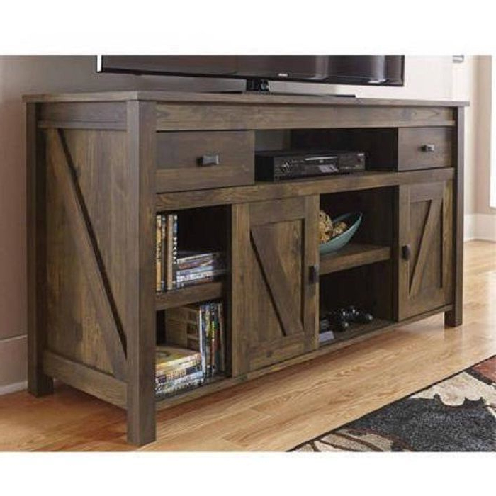 Well Known Sinclair Grey 68 Inch Tv Stands Intended For Rustic Tv Stand Console Up To 60 Barn Wood Farmhouse Home (Gallery 18 of 20)