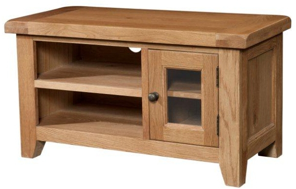 Well Known Tv Cabinets : Somerset Small Chunky Oak Tv Unitsomerset Small Chunky Within Chunky Oak Tv Units (View 17 of 20)