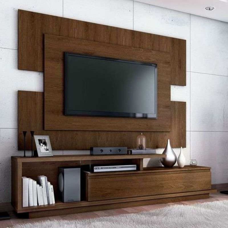 Well Known Tv Stand Wall Units With Regard To Novel Tv Stand With Wall Unit (6 Feet) – Kcommie Store (Gallery 1 of 20)