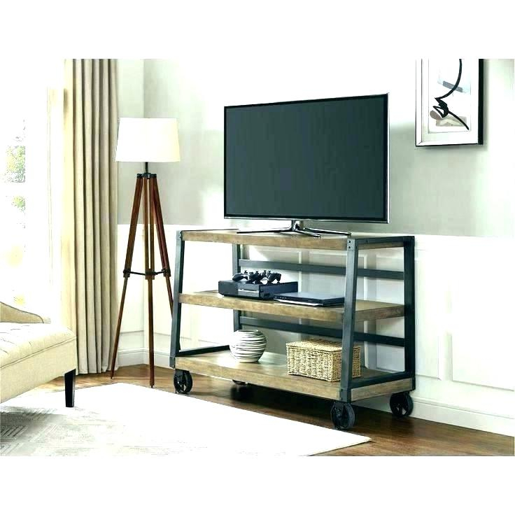 Well Known Tv Stand With Caster Vintage Industrial Stands On Casters For Lcd With Regard To Small Tv Stands On Wheels (View 18 of 20)