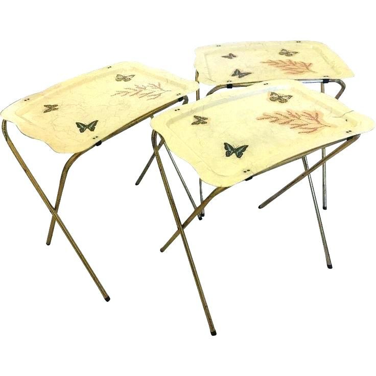 Well Known Tv Tray Set With Stands Pertaining To Folding Dinner Table Tables Tv Tray Set With Stand Shore Birds Trays (View 17 of 20)