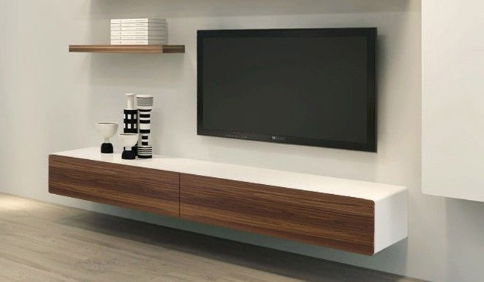 Well Known Under Tv Cabinets Pertaining To Plasma Tv Mounted Onto Veneer Board Modern – Google Search (View 18 of 20)