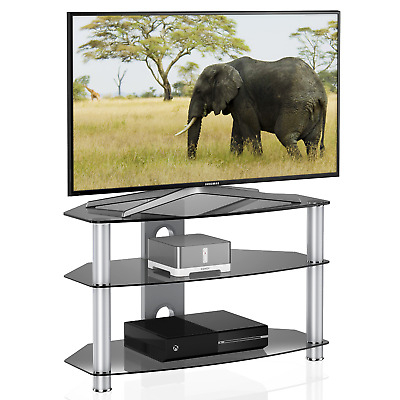 Well Known Universal Glass Tv Stand For 24 35 40 42 Up To 46 Inch Samsung Vizio Pertaining To Vizio 24 Inch Tv Stands (View 19 of 20)