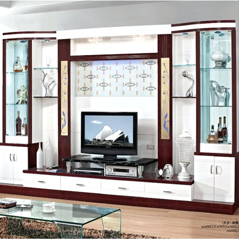 Well Known Wall Unit Tv Stand Brief White Paint Floor Cabinet Shelf Wall Coffee Pertaining To White Painted Tv Cabinets (View 16 of 20)