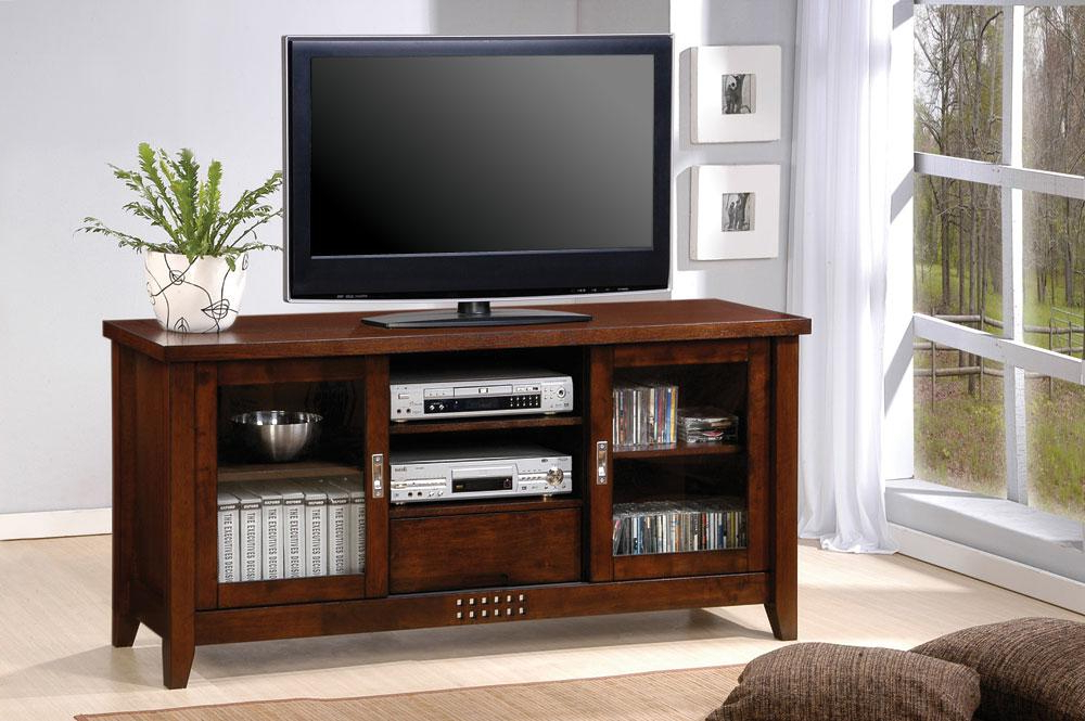 Well Known Walnut Tv Cabinets With Doors Throughout Coaster Walnut Tv Console 700619 – Tv Consoles Collection: 1 Reviews (View 20 of 20)