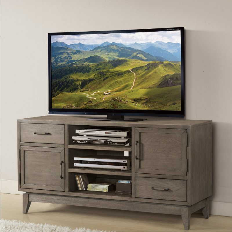 Well Known Washed Gray Transitional 55 Inch Tv Stand – Vogue (View 7 of 20)