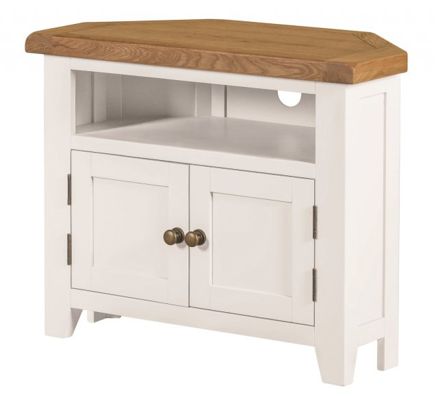 Well Known Wexford Painted Corner Tv Cabinet – Corner Tv Units Regarding Painted Corner Tv Cabinets (View 20 of 20)