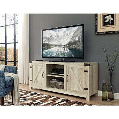 Well Known White Oak – Tv Stands – Living Room Furniture – The Home Depot With Rustic Tv Stands (View 20 of 20)