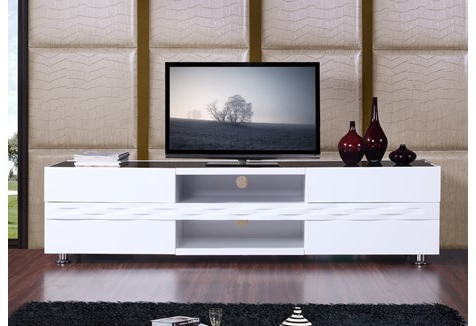 Well Known White Tv Stands For Flat Screens Pertaining To B Modern Publisher  (View 16 of 20)