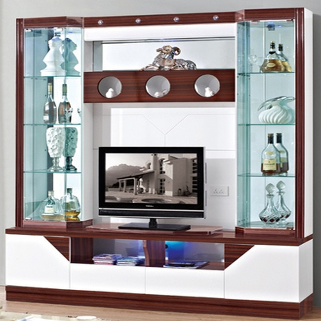 Well Known Wine Cooler Modern Brief Fashion Glass Cabinet Office Display For Wall Display Units And Tv Cabinets (View 19 of 20)