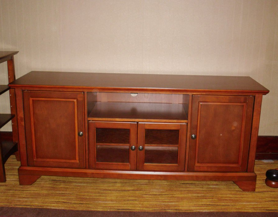 Featured Photo of Wood Tv Stand With Glass