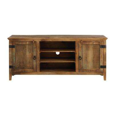 Well Known Wooden Tv Stands With Doors Pertaining To Wood – Tv Stands – Living Room Furniture – The Home Depot (Gallery 4 of 20)