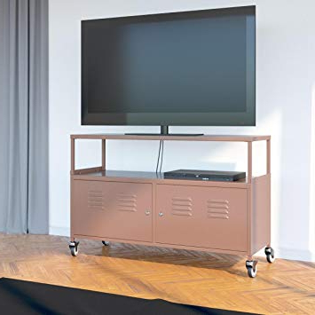 Well Liked Amazon: Tuscany Metal Lockable Tv Stand Cabinet Media Storage In Lockable Tv Stands (View 20 of 20)