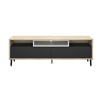 Well Liked Amazon: Tvilum 69992Ak5349 Match Tv Stand, Oak Structure/dark Intended For Rowan 45 Inch Tv Stands (View 19 of 20)