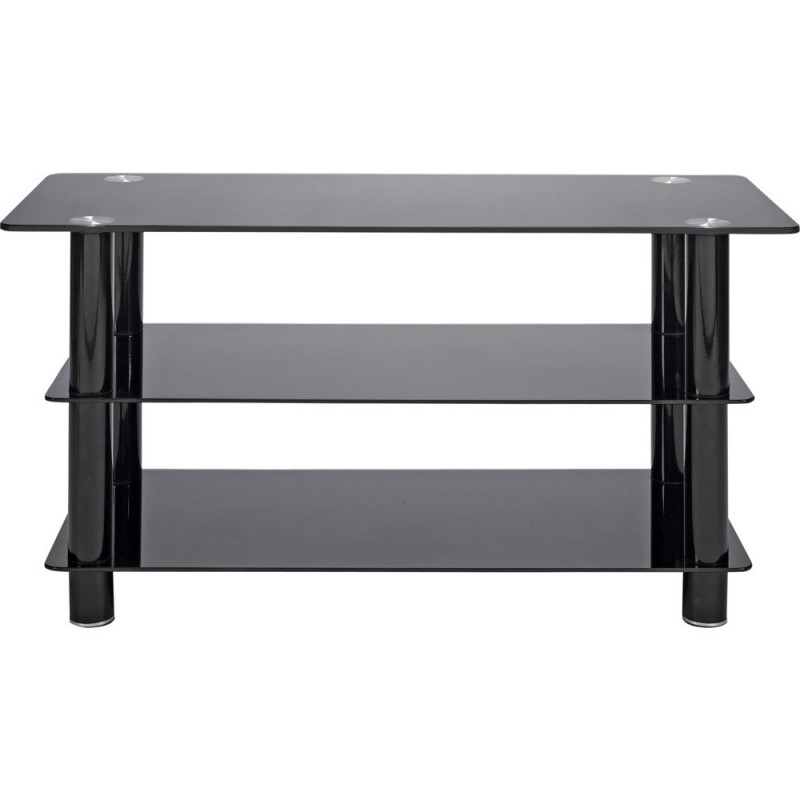 Well Liked Black Glass 42 Inch Slimline Tv Stand – Storage Units – Furniture Regarding Slimline Tv Stands (Gallery 10 of 20)