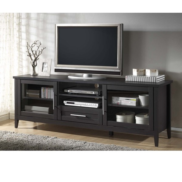 Well Liked Black Tv Cabinets With Drawers Throughout Tv Stands: Modern Open Storage Tv Stands With Drawers Design Ideas (View 18 of 20)
