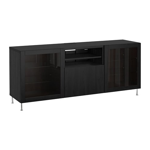 Well Liked Black Tv Cabinets With Drawers With Bestå Tv Unit With Drawers – Black Brown/lappviken/stallarp Black (View 19 of 20)