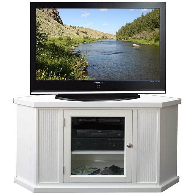 Well Liked Corner Tv Stands For 46 Inch Flat Screen With Regard To Shop White 46 Inch Corner Tv Stand & Media Console – Free Shipping (View 4 of 20)