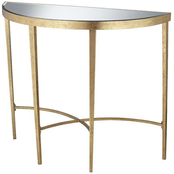 Well Liked Demilune Console Table In Pacific Coast Amelia Antique Gold Plans Pertaining To Clairemont Demilune Console Tables (Gallery 6 of 20)