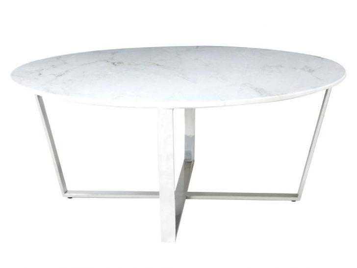 Well Liked Elke Round Marble Coffee Table Side Living Room Contemporary Top For Elke Glass Console Tables With Polished Aluminum Base (View 20 of 20)