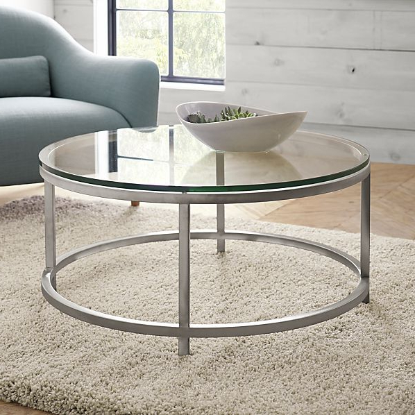 Well Liked Era Limestone Console Tables With Campton Coffee Table Crate And Barrel Black Round Dining Table (View 20 of 20)