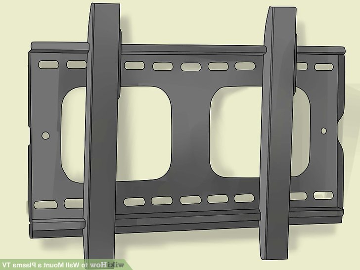 Well Liked How To Wall Mount A Plasma Tv: 12 Steps (with Pictures) – Wikihow With Plasma Tv Holders (View 2 of 20)
