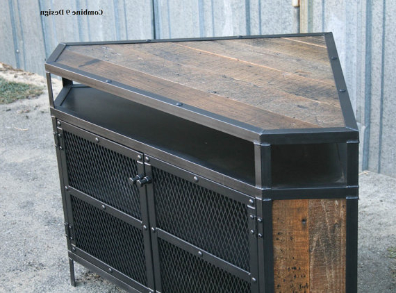 Well Liked Industrial Corner Tv Stands Within Industrial Corner Unit – Reclaimed Wood Tv Stand (View 20 of 20)