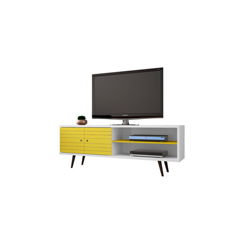 Well Liked Kai 63 Inch Tv Stands For Manhattan Comfort Liberty 63 Inch Tv Stand With 3 Shelves And (View 7 of 20)