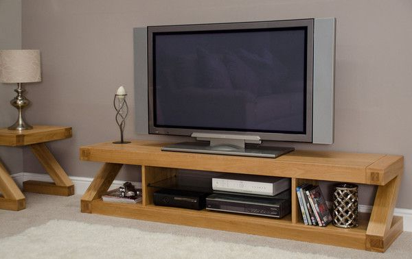 Well Liked Light Oak Tv Stands Flat Screen Pertaining To Amelie Oak Large Plasma Tv Unit (View 20 of 20)