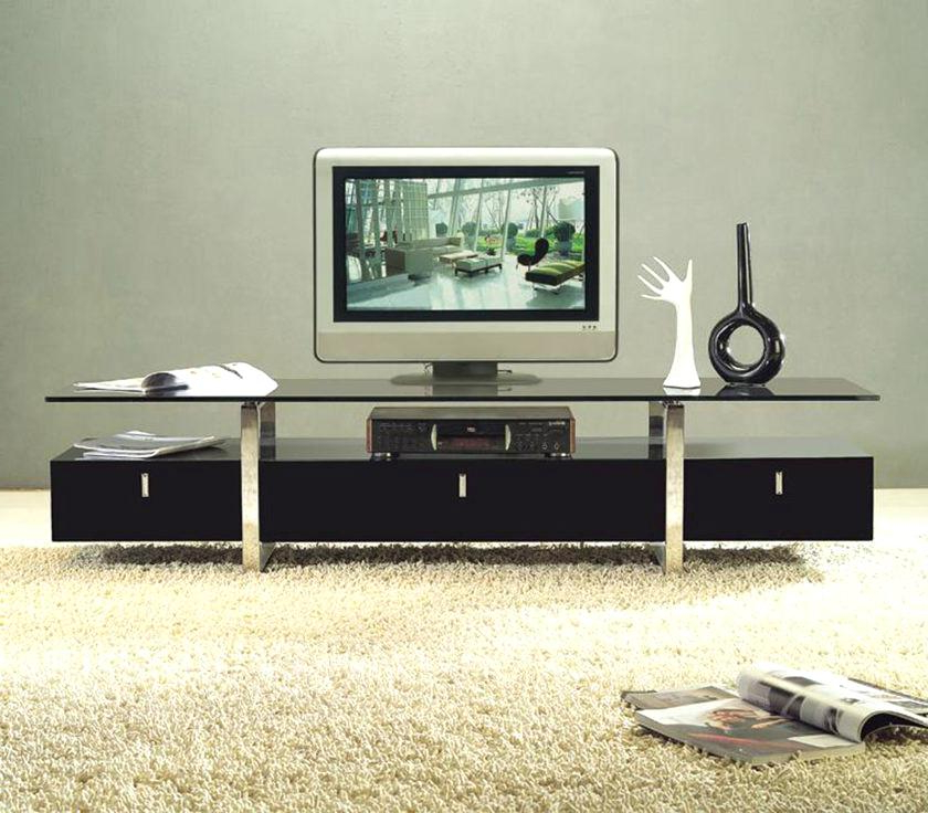 Well Liked Long Black Tv Stands Within Long Tv Stands Stand Appealing White For Your Interior Design Ideas (View 20 of 20)