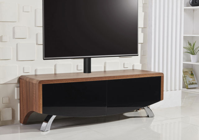 Well Liked Mda Wave 1200 Wide Tv Cabinet Unit Stand Walnut Tv Mount For 60 Tv For Walnut Tv Cabinets With Doors (View 6 of 20)