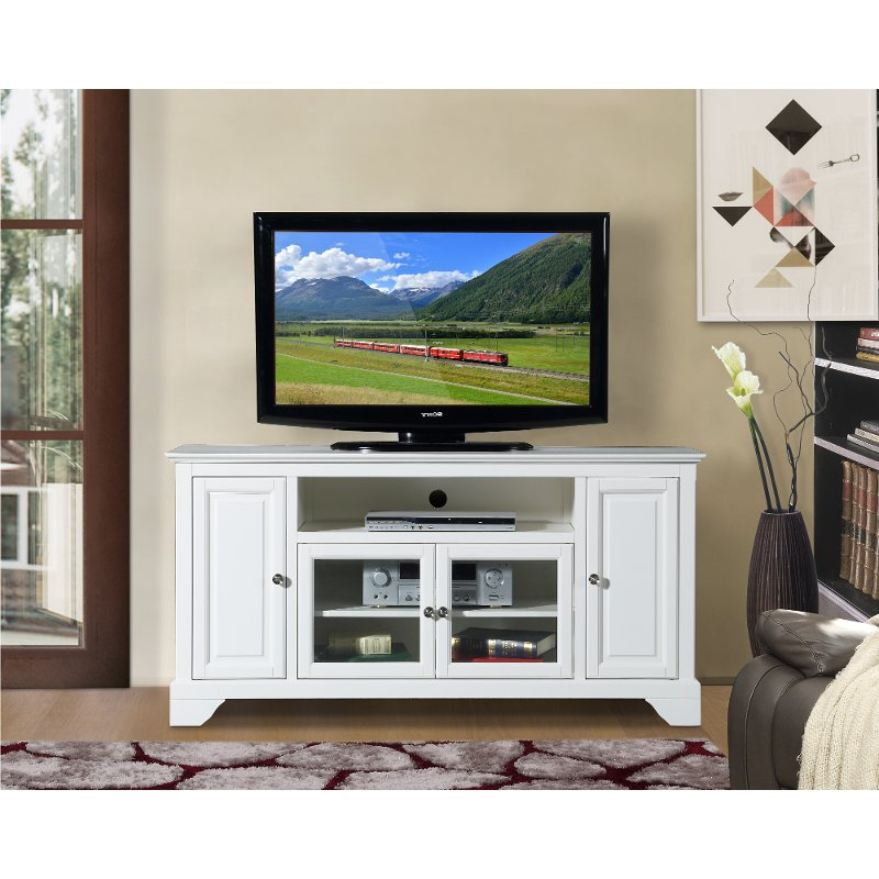 Well Liked Modern Tv Stands For 60 Inch Tvs With Regard To 60 Inch White Tv Stand – Irvington (View 20 of 20)