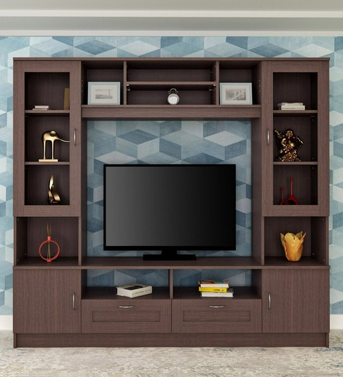 Well Liked Modern Tv Units Intended For Buy Missouri Wall Tv Unit In Walnuthometown Online – Modern Tv (View 4 of 20)