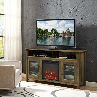 Well Liked Oak – Electric Fireplaces – Fireplaces – The Home Depot Within Kilian Grey 49 Inch Tv Stands (Gallery 18 of 20)