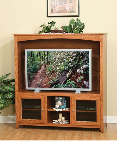Well Liked Oak Tv Stand With Glass Doors (View 7 of 20)