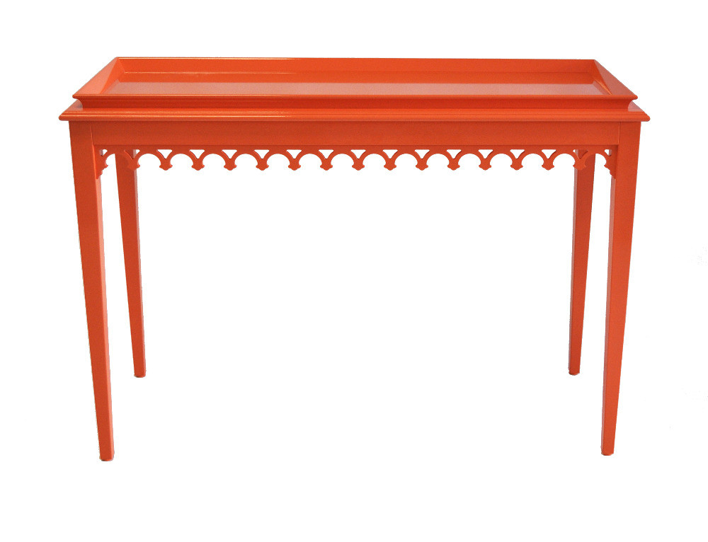 Well Liked Oomph Newport Knockout Orange Console Table Domino Bone Inlay In Orange Inlay Console Tables (View 2 of 20)